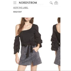 Astr one shoulder blouse